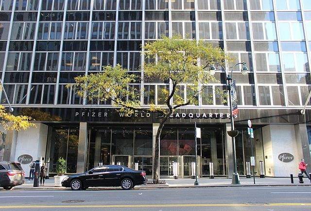 Image: Pfizer world headquarters in Manhattan, New York. Photo: courtesy of Coolcaesar.