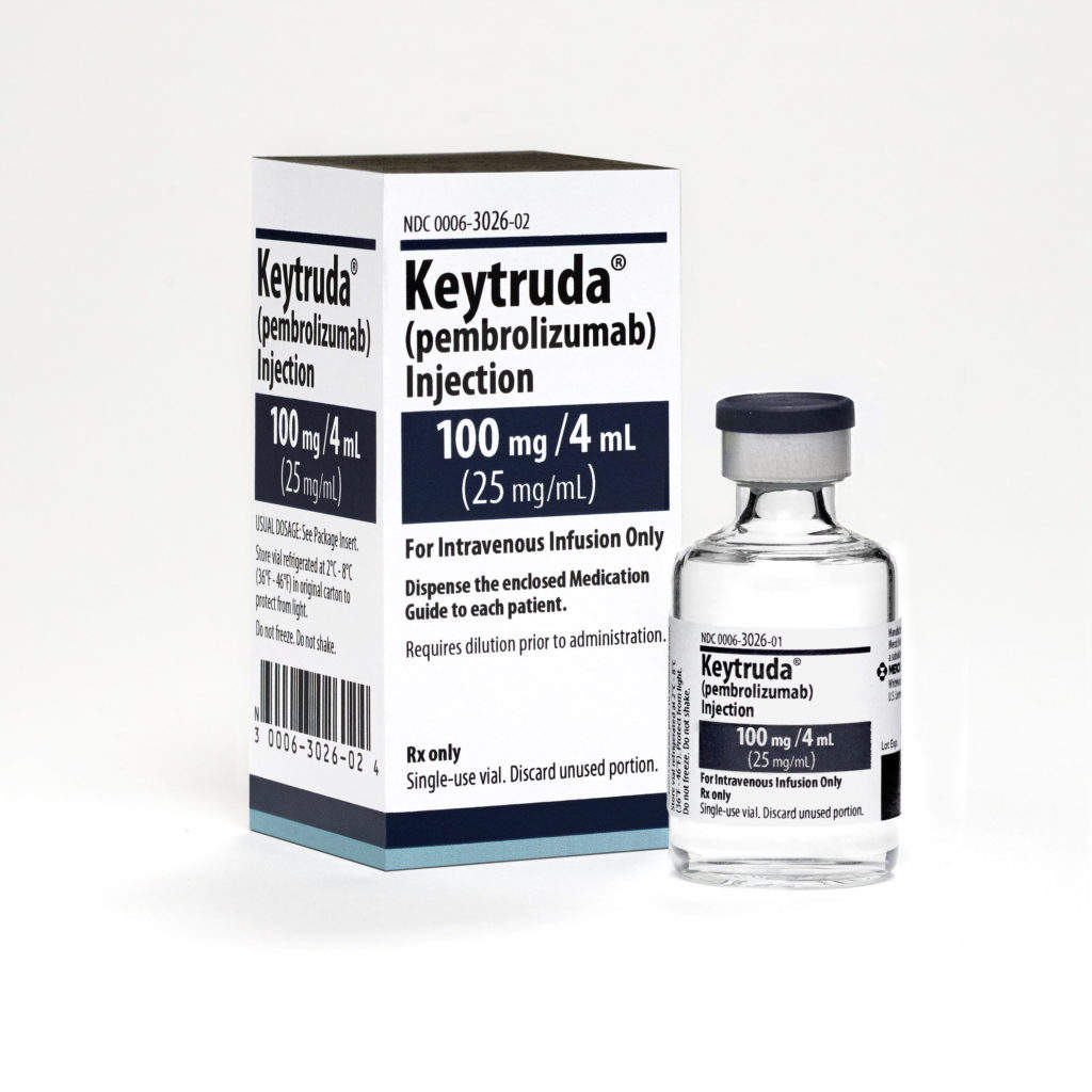 Image: Merck's anti-PD-1 therapy Keytruda.  Photo: courtesy of Merck Sharp & Dohme Corp.